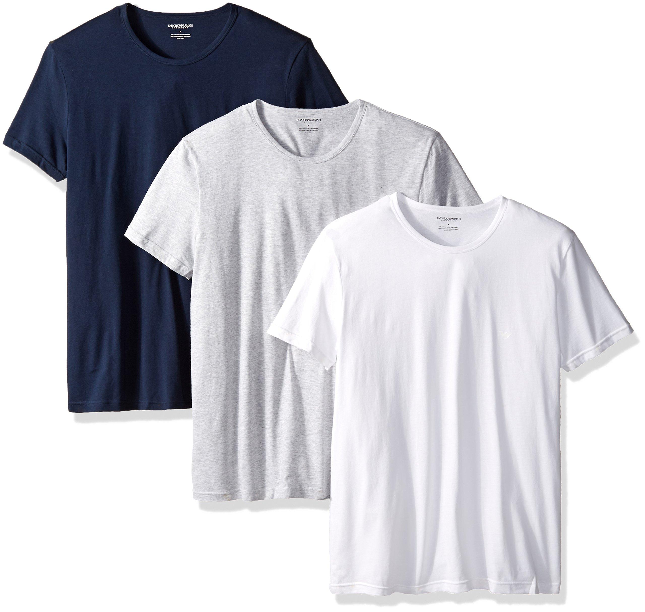 エンポリオアルマーニエンポリオアルマーニメンズコットンラウンドネックTシャツ3枚