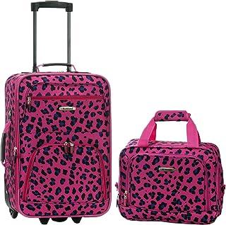 Rockland 行李两件套 洋红色豹纹 均码