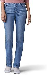 Lee 女式 经典合身 Monroe 直筒牛仔裤