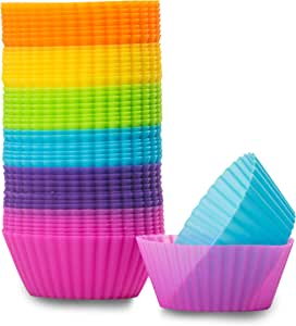 厨房*者可重复使用不粘硅胶纸杯蛋糕垫 多种颜色