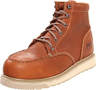 Timberland 添柏岚 PRO 男士 Barstow Wedge 安全头Safety Toe Brown Boot棕靴