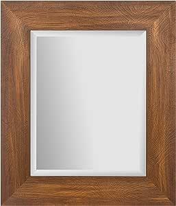 "Everly Hart 系列双层金属和木架,带挂钩壁架,白色 棕色 16"" x 20"" 18FW1525A"