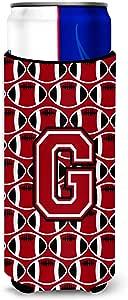 Caroline's Treasures Letter G Football Red