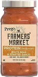 Prego Farmers' Market White Bean & Roasted Garlic, 23 oz (Pack of 6)