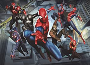 Marvel AG 设计 - 照片墙画 - 无纺布 - 儿童蜘蛛侠 - 大墙海报 - 160x110 cm/63x43 英寸 - 1 部分 - FTDNM 5257