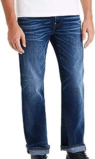 American Eagle 男式 5106928 Ne(x) t Level Flex Original 靴型牛仔裤,深复古蓝