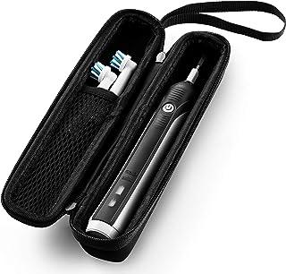 Caseling 硬質手機殼 適合 Oral-B Pro 1000 充電電動牙刷,帶網狀口袋,用于裝配件(小號非常適合旅行)