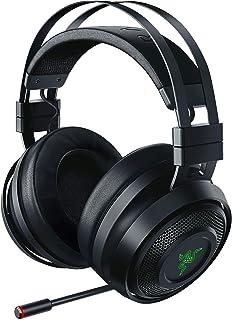 Razer Nari 无线:THX 空间音频 - 冷却凝胶注入垫 - 2.4GHz 无线音频 - 麦克风与游戏/聊天平衡 - 游戏耳机适用于电脑、PS4、Xbox One、交换机和移动设备RZ04-02680100-R3U1  Nari