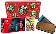 【Amazon.co.jp限定】<ニンテンドースイッチ オリジナルギフトセット>太鼓の達人 Nintendo Switchば~じょん!+Nintendo Switch 本体 ネオンブルー/ネオンレッド(バッテリー持続時間が長くなったモデル)+アクセサ