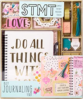 STMT DIY 日志套装由 Horizon Group 出品,使用贴纸、闪光边框、磁性书签、流苏钥匙链等个性化装饰您的计划/记事本/日记。 含笔