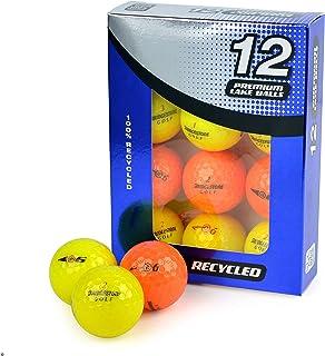 Second Chance 中性款 Bridgestone E6 Optic Grade A Lake 高尔夫球,黄色/橙色,12 号