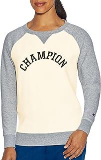 Champion 女式传统羊毛圆领衫