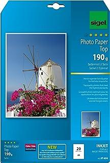 Sigel IP684 InkJet 照片纸*,A4 20页,亚光,亮白色,190 克