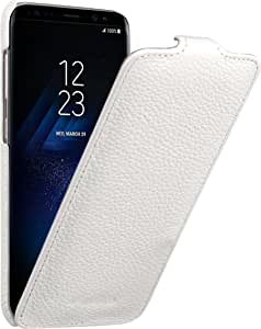 Melkco 高级皮革保护套适用于三星 Galaxy S8 Plus 脸部保护套书类型MKJKSSGS8PJT1WELCLT Jacka Type - White 白色