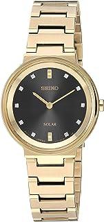SEIKO 精工 女式连衣裙石英不锈钢手表,颜色:金色(型号:SUP396)
