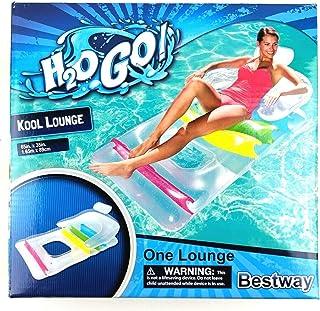 Tikayoh Inc Bestway H2ogo 充气设计师时尚泳池休息室,颜色可能会变化泳池配件和装饰