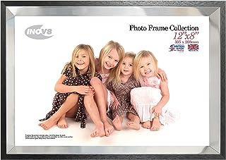 Inov8 12 x 20.3 厘米 Louvre 单英国制造 相框/相框 银色/黑色,边缘,9 x 12 x 16 厘米
