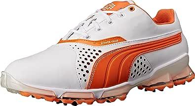 PUMA 男士 Titantour 高尔夫球鞋 White/Vibrant/Orange 9.5