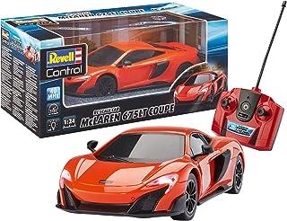 Revell Control 24661 RC Scale Car 1:24 McLAREN 675LT Coupe, 40MHz, 原厂车身,驾驶灯遥控车,红色橙色,19厘米
