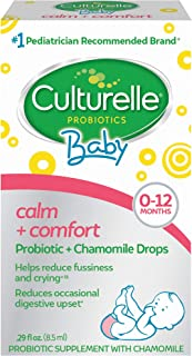 Culturelle 康萃乐 宝宝稳定+舒适益生元+洋甘菊滴|帮助减少宝宝的吸收不良的状况,0.29 fl. Oz/滴(8.5毫升)