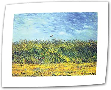 Art Wall Green Wheat Fields by Vincent Van Gogh 14 by 18-Inch Flat/Rolled Canvas Art with 2-Inch Accent Border