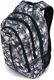 儿童书包、带可调节衬垫肩带的重型包、大主隔层舒适、炫酷印花、手提书、笔记本电脑、旅行、户外 Gray Planets 1211