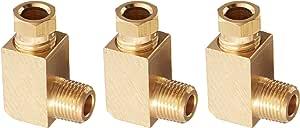 3 件 6.5mm 管 1/8pt 螺纹 L 形肘部快速耦合器配件