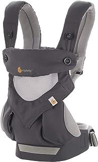 Ergobaby 婴儿背带 360 可携式婴儿背带,带凉风网,碳灰色