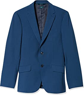 Perry Ellis 男式修身可水洗纯色弹力西装外套