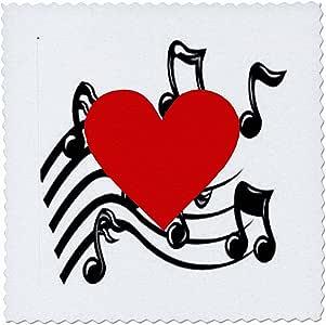 florene 音乐–大红心 ON 音符–方块拼布