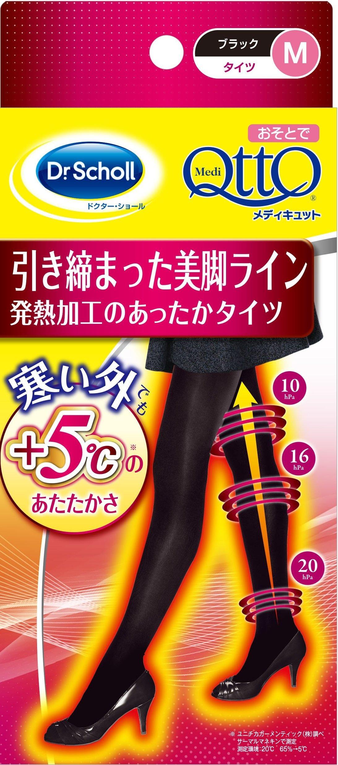 Dr.Scholl MediQtto 压紧裤袜 会发热 黑色 M 保暖保温效果 修身美腿线