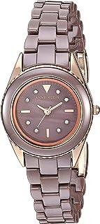 Anne Klein 女式施华洛世奇水晶陶瓷手链手表