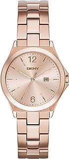 DKNY (DNKY5) 女式石英手表玫瑰金指针显示和玫瑰金不锈钢表链 NY2367
