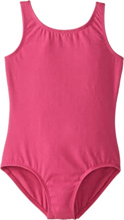 Clementine Big Girls' Ballet Cut Tank Leotard Mulberry 12-14