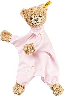 Steiff Sleep Well Bear 盖被毛绒玩具,粉色