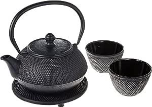 New Star 国际铸铁 ARR 茶具(含三维草),21 盎司 黑色 21盎司 T8010