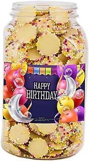 Mr Tubbys White Chocolate Jazzies - Happy Birthday Blue Label - Medium Jar 750g(Pack of 1)