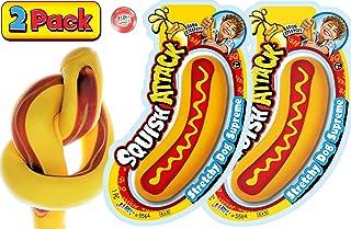 JA-RU 弹性热狗湿巾玩具(单位)缓解*压力玩具 | 自闭*儿童感官玩具和成人的解压玩具。 5564-p 2组 Hot Dog