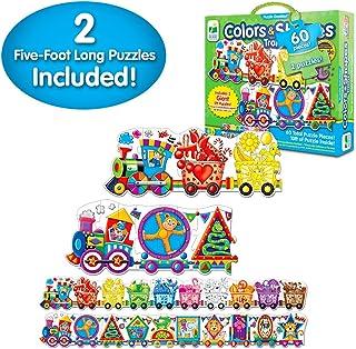 学习之旅拼图加倍,找到它! 123 Giant Colors and Shapes Train Floor Puzzles 多色