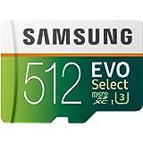 三星 512GB 100MB/s (U3) MicroSD Evo Select 内存卡,带适配器 (MB-ME512GA/AM)