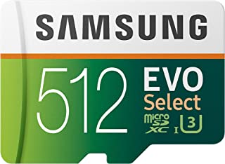 Samsung 三星(MB-ME512GA / AM)512GB 100MB / s(U3)MicroSDXC Evo Select 带适配器的存储卡