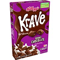 Krave Kellogg's Breakfast Cereal, Double Chocolate, 11 Ounce