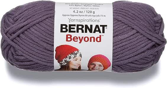 Bernat Beyond 亚克力尼龙纱线,白色 紫色 16122323025