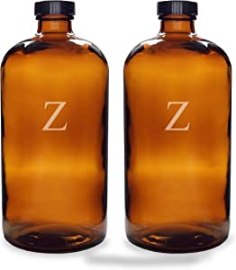 Cathy's Concepts Personalized Bullet Growlers, Set of 2, Letter Z