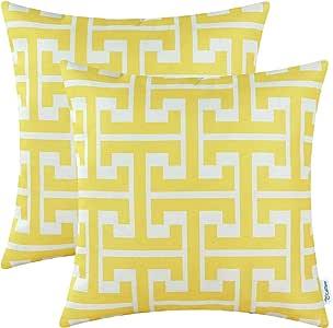 2个装 calitime 靠垫套抱枕套,现代几何 MATRIX