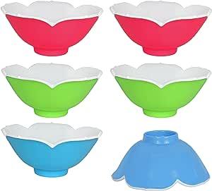 夏季和春季彩色碗 - 明亮美丽系列 - 15.24cm x 6.99cm - 小型餐碗非常适合厨房、派对、活动或家庭! 粉色,绿色,蓝色 小号 G05403