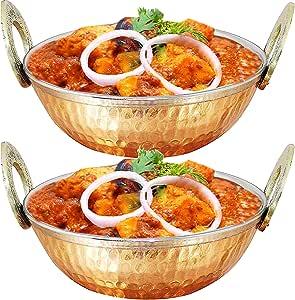Copper 不锈钢餐碗 16.9 盎司,小派对零食,沙拉,谷物碗,1 件,棕色 金色 大 TK5