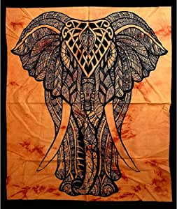 MY DREAM CARTS 美丽波西米亚房间宿舍装饰嬉皮小波西米亚挂毯海报尺寸 101.6 x 76.2 迷幻挂毯墙壁艺术悬挂棉吉普赛海报 Mdcd072 Poster (40x30Inches)(101x76Cms) MDCD072