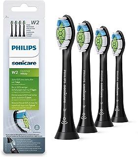 Philips 飞利浦 Sonicare Optimal White 原装替换牙刷头 HX6064/11,减少2倍变色,牙齿更白,4件装
