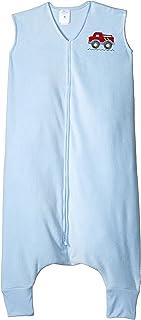 HALO 赫拉 安全睡袋 大童 超细摇粒绒 可伸脚 蓝色卡车 4-5岁 秋冬厚款